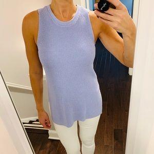 LOFT Liliac Sleeveless Tunic Sweater Top